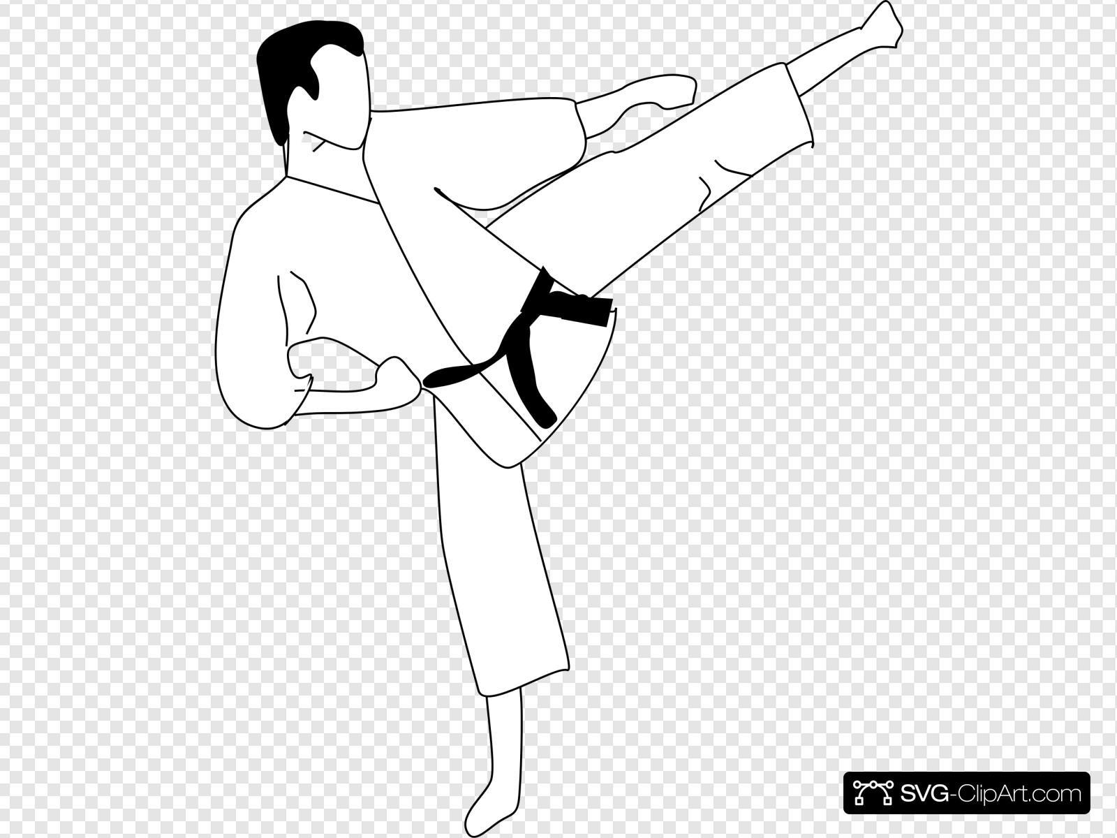 Karate Kick Clip art, Icon and SVG.
