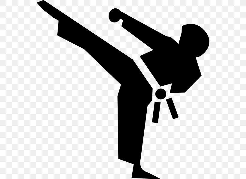 Martial Arts Karate Kick Clip Art, PNG, 576x598px, Martial.