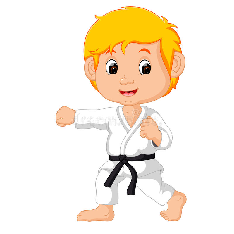 Karate Kid Stock Illustrations.