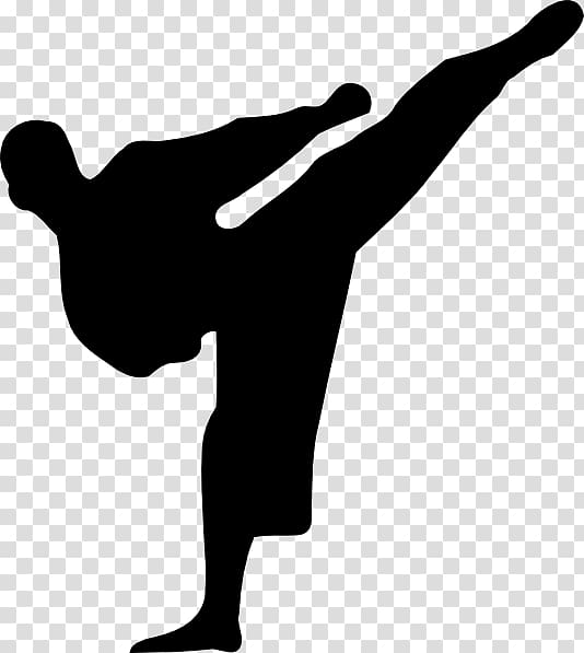 Silhouette of man , Karate Kickboxing Martial arts , Martial Arts.