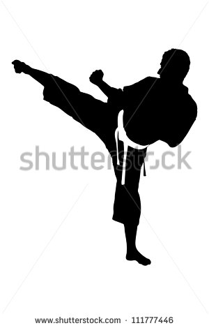 Karate Silhouette Stock Images, Royalty.
