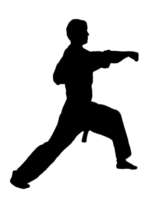Karate figures clipart kid 3.