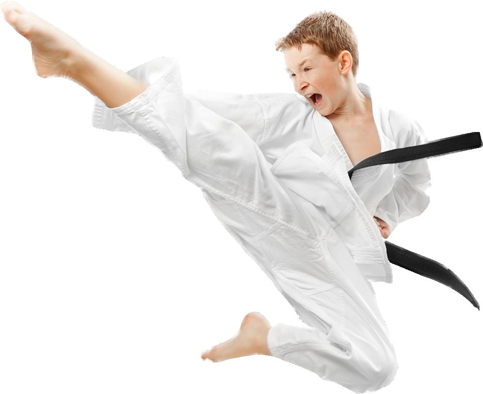 Karate Boy PNG Image.