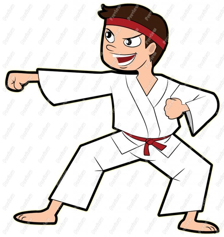 Karate Tiger Clipart.