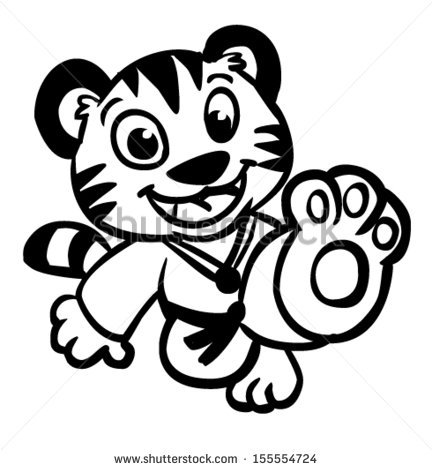 Karate Tiger Clipart