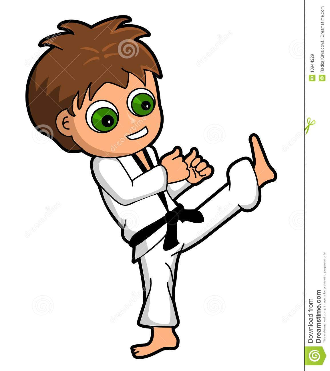 Gif clipart images of kids in karate.