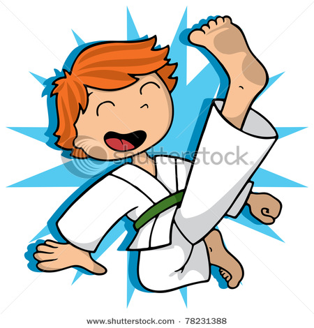 Boy Karate Clipart.