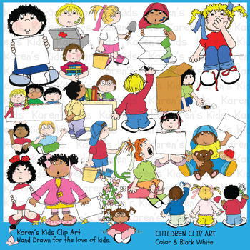 Clip Art CHILDREN Clip Art (Karen's Kids Studio).