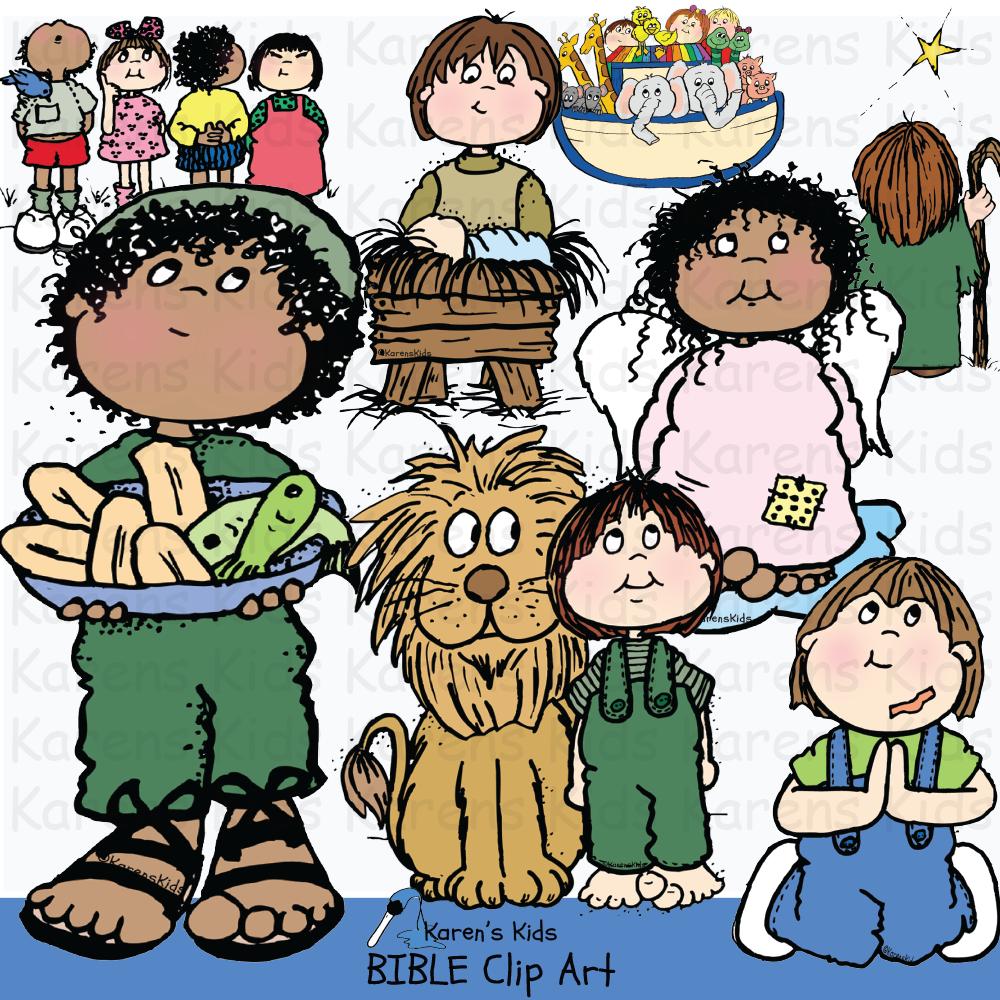 Clip Art Bible Kids.