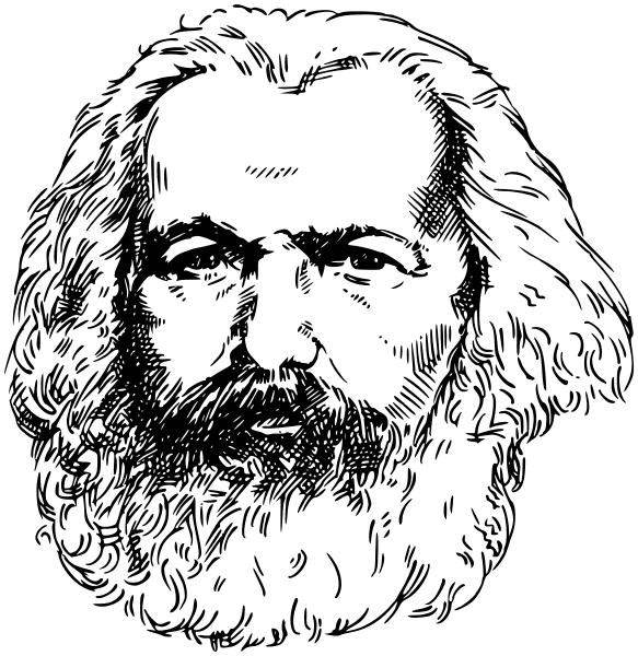 Karl Marx lineart.