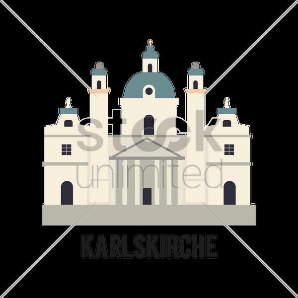 Karlskirche Vector Image.