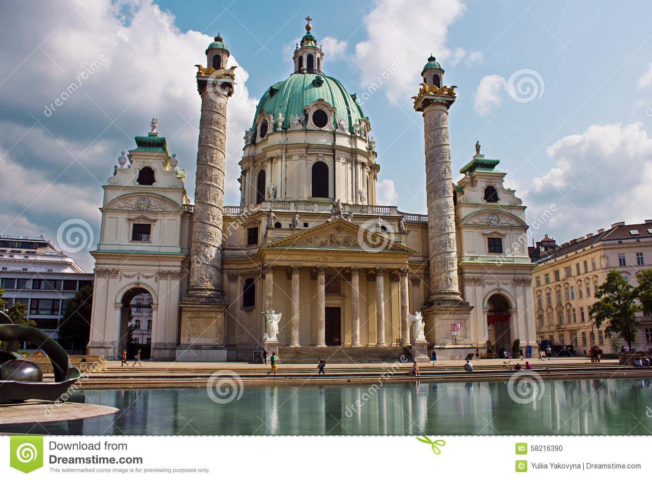 Church Of St. Charles Borromeo (Wiener Karlskirche) In Vienna.