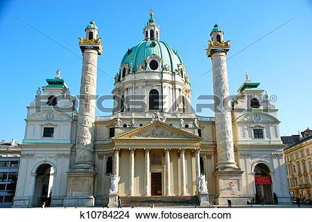 Stock Photo of Karlskirche, Vienna k10784224.