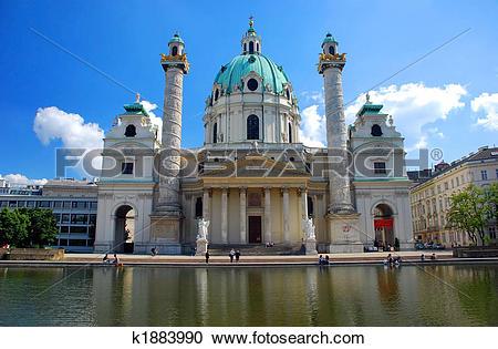 Stock Photography of Karlskirche, Vienna k1883990.