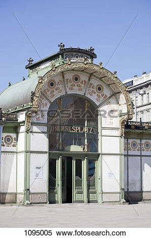 Stock Image of Karlsplatz Stadtbahn Station entrance 1095005.