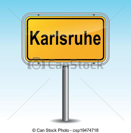 Vector Clip Art of Vector karlsruhe signpost.
