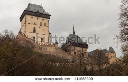 Karlstein Castle Stock fotos, billeder til fri afbenyttelse og.