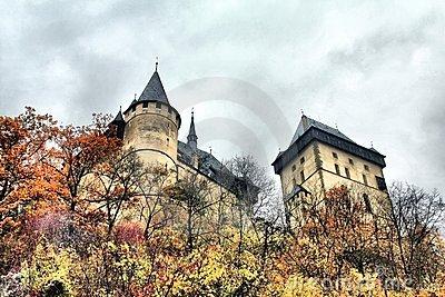 Karlstein Castle Stock Image.