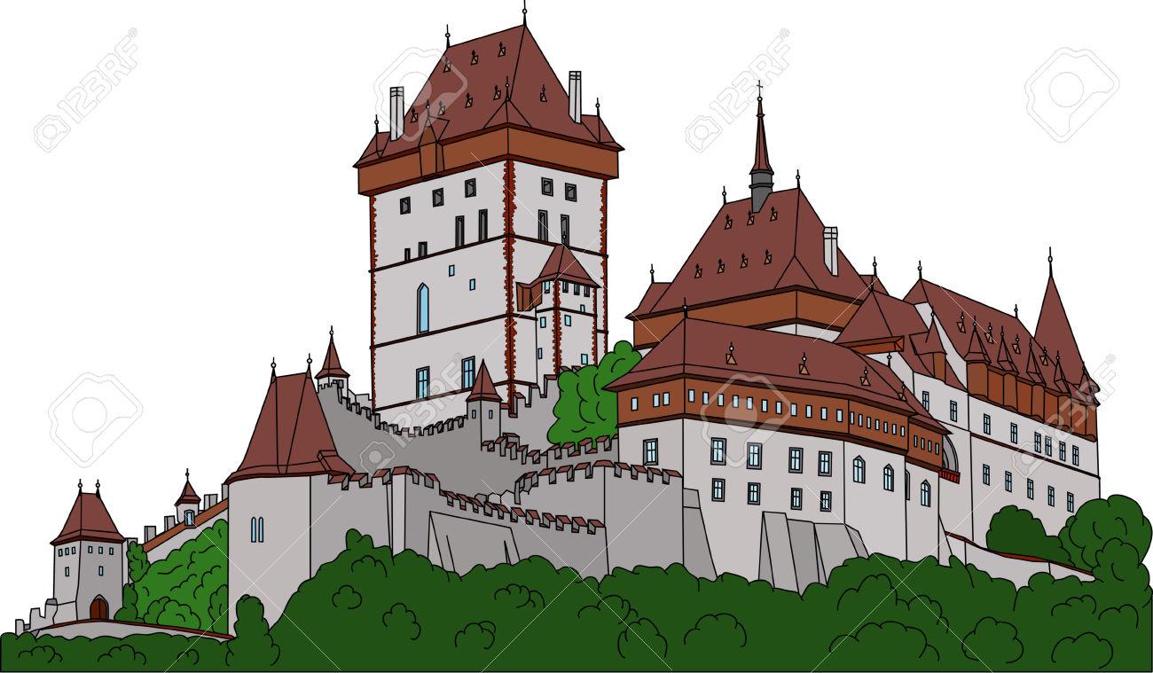Gothic Castle Karlstein (Carlstein) Et Czech Republic (Europe.