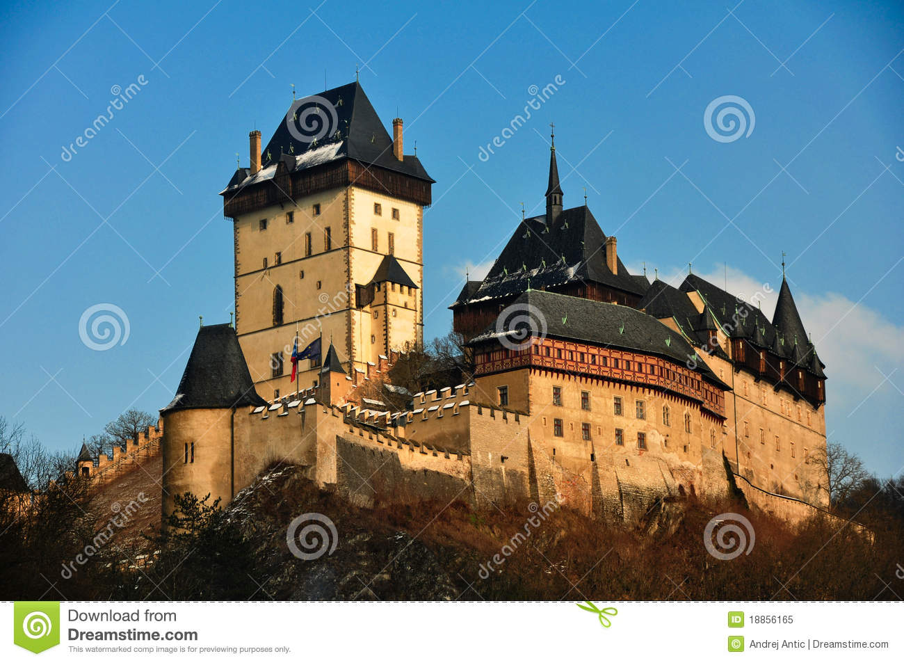 Karlstein Castle Royalty Free Stock Photo.