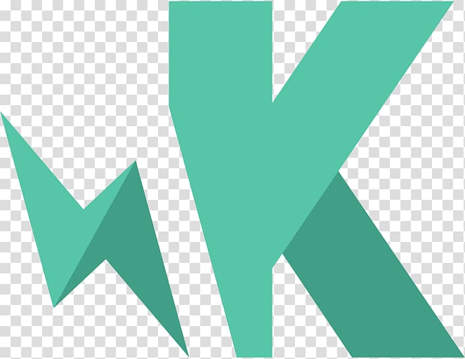 Green letter K , Karma Logo transparent background PNG.