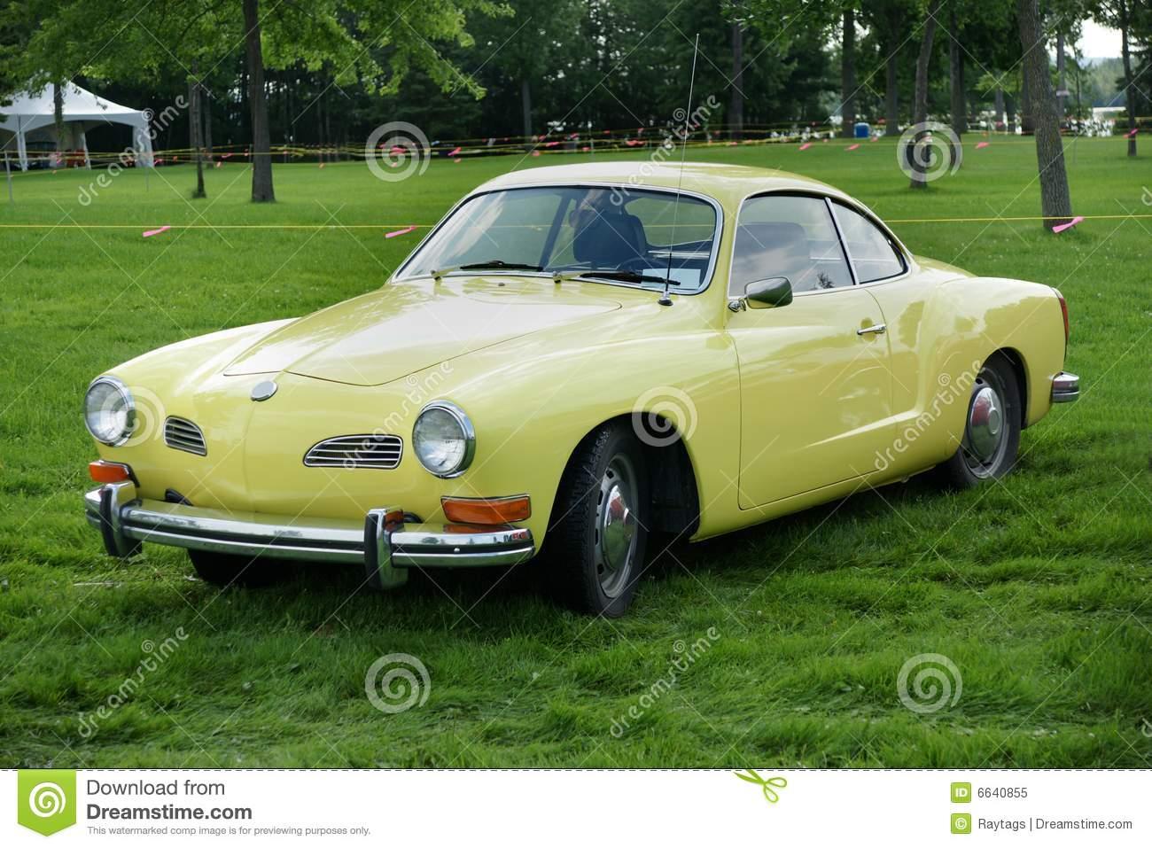 Volkswagen Karmann Ghia Royalty Free Stock Photo.