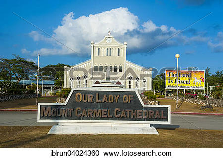 """Stock Photography of """"Cathedral Our Lady of Mount Karmel, Garapan."""