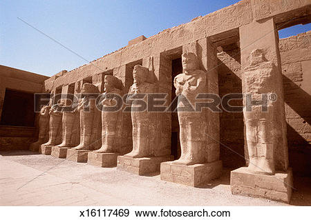 Stock Photograph of Large Hypostyle Hall at the Temple of Karnak.