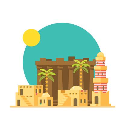 Karnak Temple Clip Art, Vector Images & Illustrations.