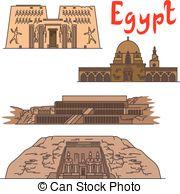 Karnak Vector Clipart Royalty Free. 20 Karnak clip art vector EPS.