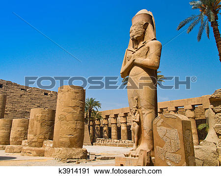 Stock Photography of ??? Egypt, Luxor, Karnak temple k3914191.