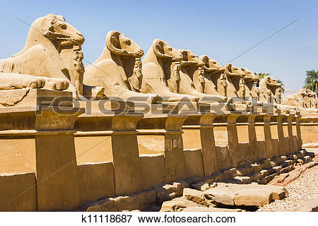 Picture of Ancient ruins of Karnak temple in Egypt k11118687.