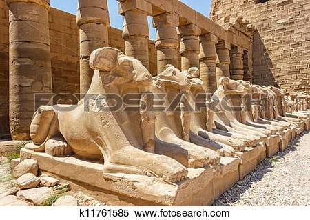 Stock Image of Ancient ruins of Karnak temple in Egypt k11761585.