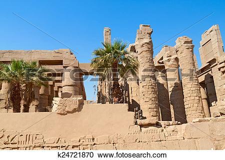 Stock Photography of Ruin of the Karnak Temple, Egypt k24721870.