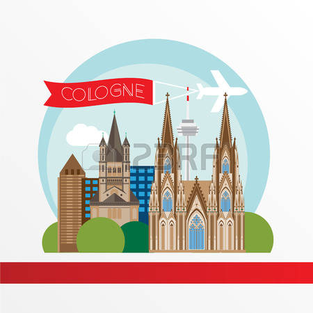 500 Cologne Germany Stock Vector Illustration And Royalty Free.