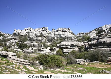 Stock Image of Impressive karst landscape in Spain.