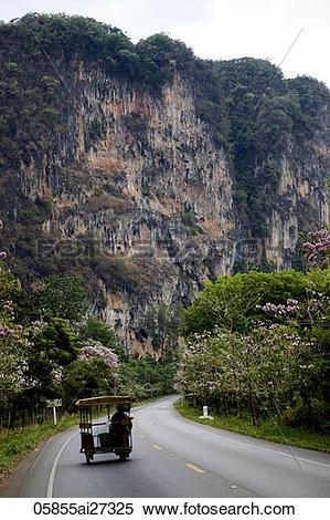 Stock Image of Thailand,Krabi,Karst Cliff 05855ai27325.