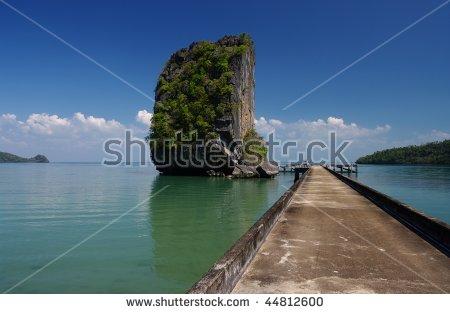 Limestone Karst Island Talo Wao Bay Stock Photo 44812600.