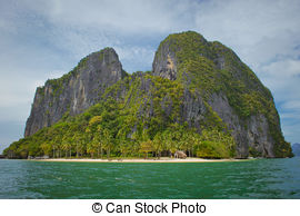 Picture of Lagoon and limestone cliff in El Nido.