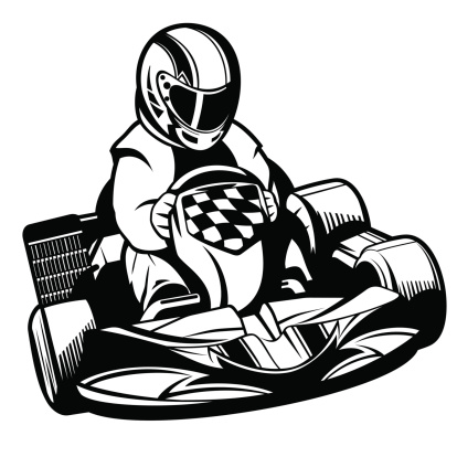 Go karting clipart.