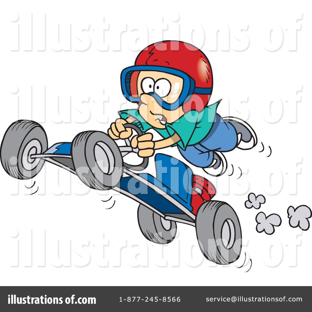 Funny Go Kart Clipart.
