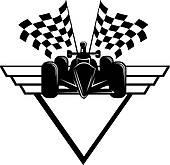 Racing go kart clipart.