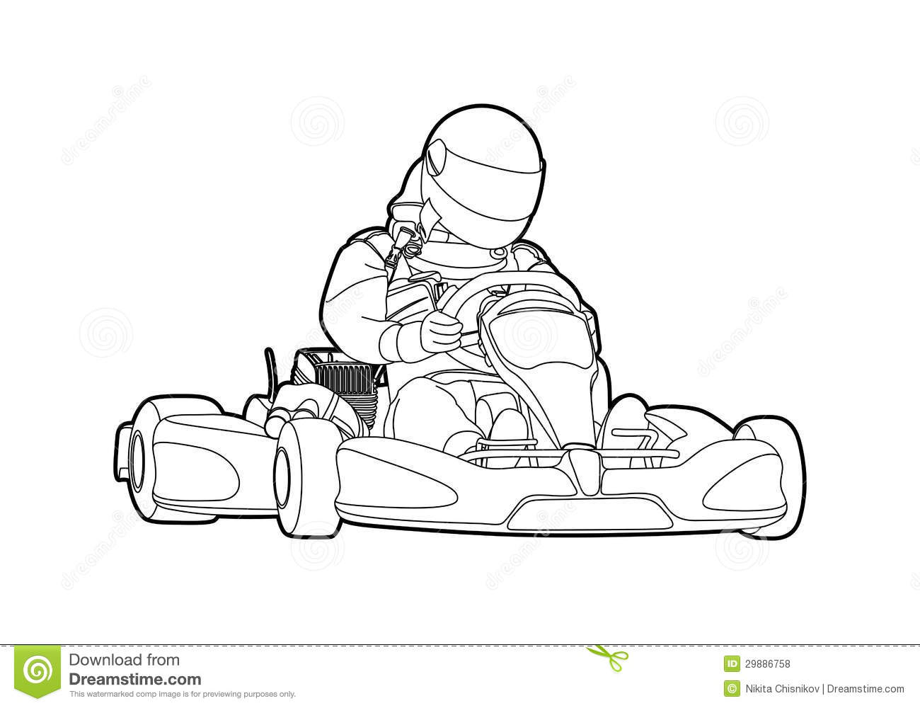 Karting Stock Illustrations.