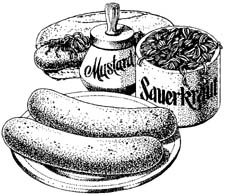 Bratwurst Clipart.