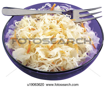Stock Photography of Sauerkraut Cut Out u19063620.