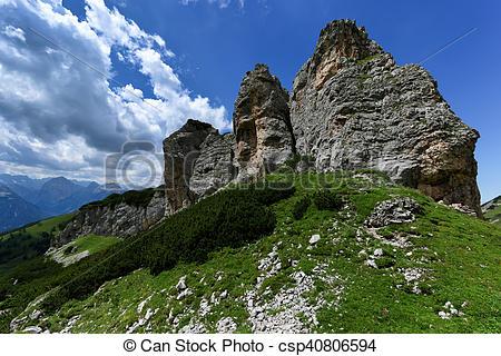 Stock Photographs of High mountains landscape of Karwendel.
