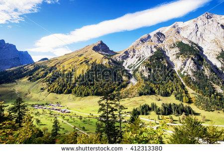 Karwendel Mountain Stock Photos, Royalty.