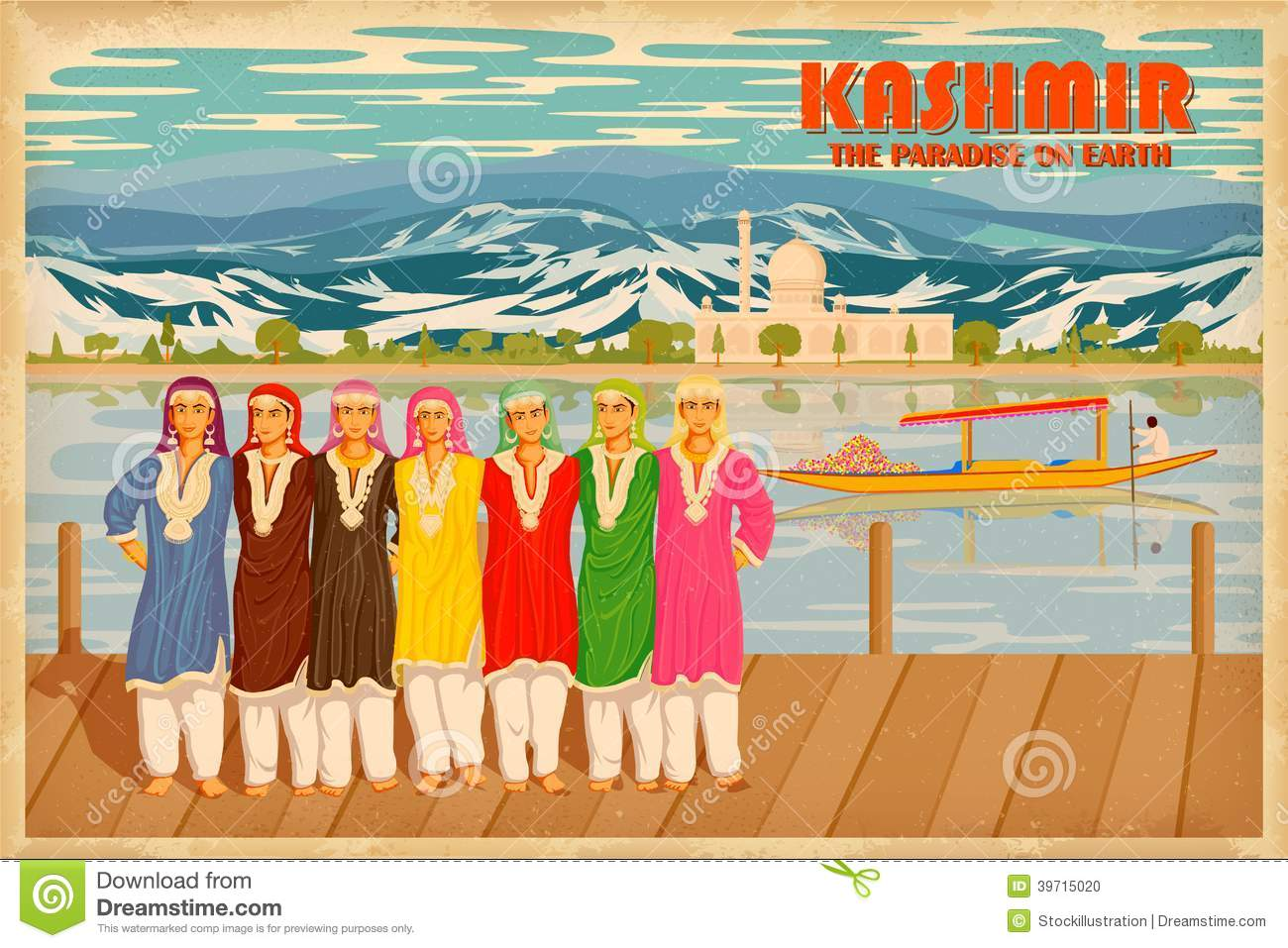 Kashmir Stock Illustrations.