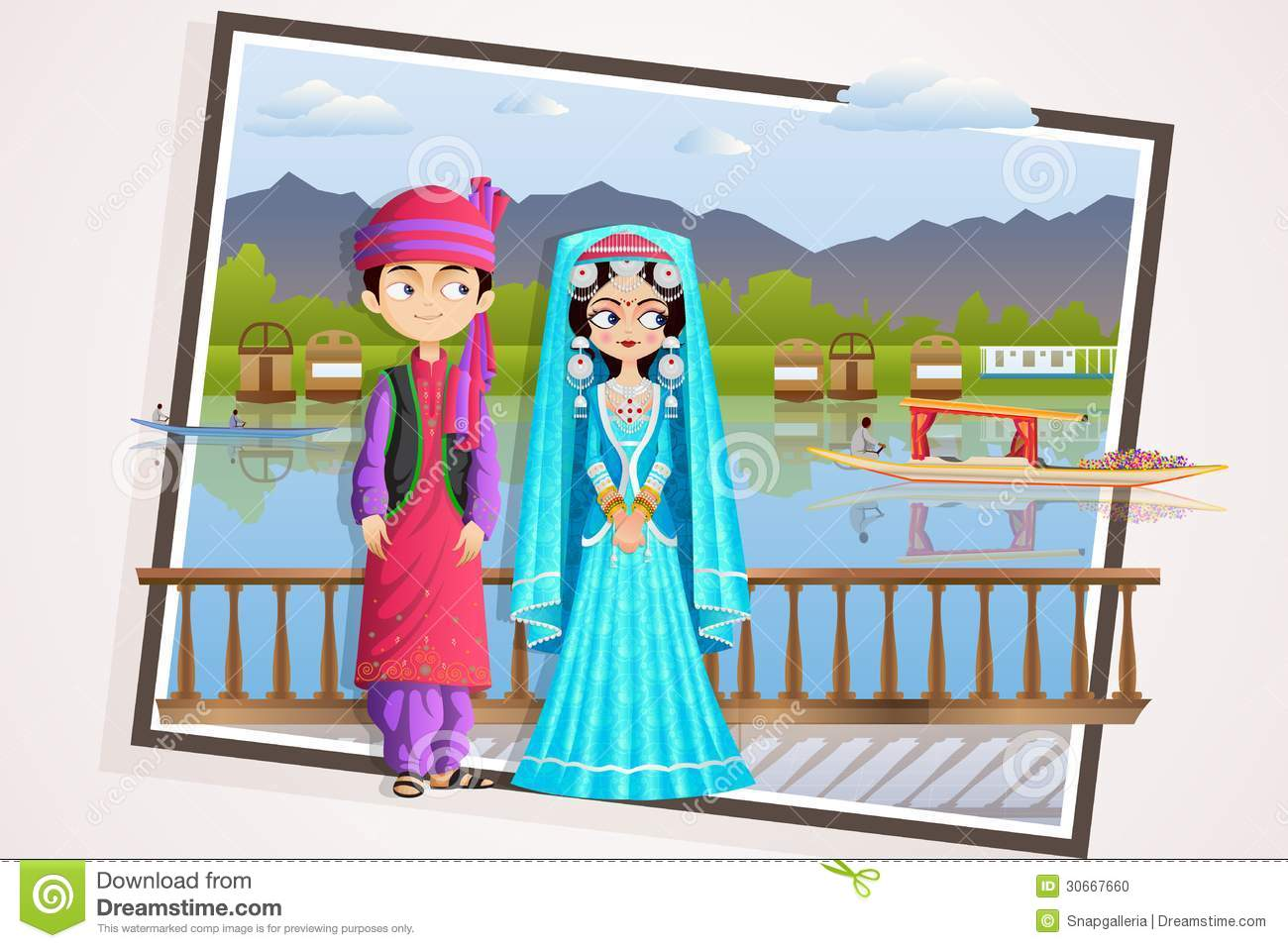 Kashmiri Stock Illustrations.