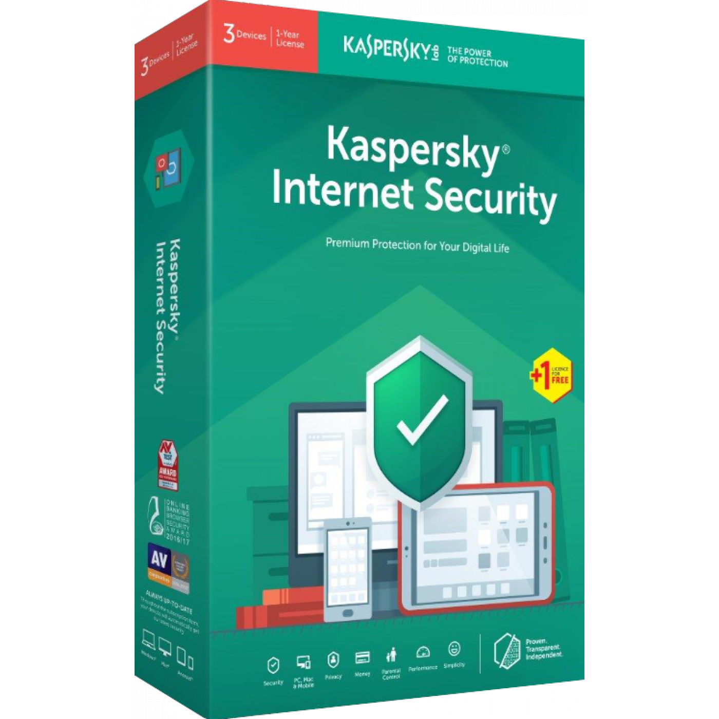 Kaspersky IS 1 + 1 DV 1 Year.